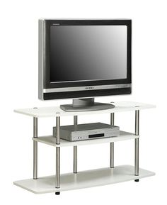 tv stand white console center cabinet modern media furniture home