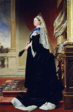 salamandra75: Queen Victoria by Von Angeli, Oil on Canvas 1885.