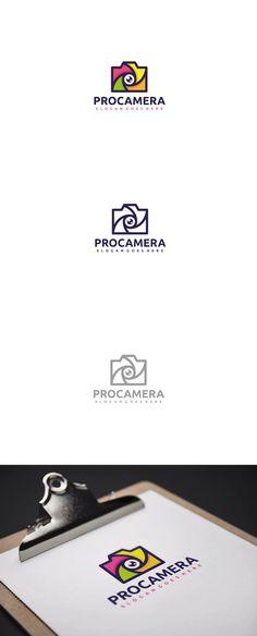 Colorful Camera Logo Template AI, EPS