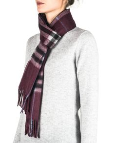Kaschmir Schal kariert rotwein rot front Plaid Scarf, Winter, Fashion, Red Wine, Cashmere, Scarves, Winter Time, Moda, Fashion Styles
