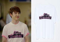 "Do Kyung-Soo 도경수 in ""It's Okay, That's Love"" Episode 5.   Nohant Neon Sign Quizas T-Shirt   #Kdrama #ItsOkayThatsLove 괜찮아, 사랑이야 #DoKyungSoo"