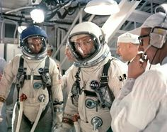 Gemini 9 Tom Stafford, Gene Cernan and Guenter Wendt