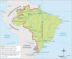 São Paulo - Conheça seu Estado (História e Geografia): 08 - Os tratados de limites estabelecendo as front...