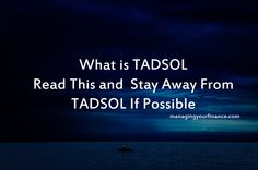 What is TADSOL – Read This and  Stay Away From TADSOL If Possible