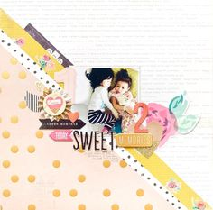 Hi there! I have another beautiful scrapbook page using the Confetti collection to share with you today from Jessy! She never ceases to amaze and inspire me with her playful use of papers and how s…