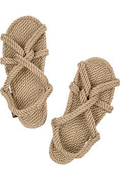 Totême | + Gurkees Biot rope sandals | NET-A-PORTER.COM