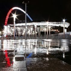 La solidarité at the #England v #France game at #Wembley this evening. The game was much more than a football match - it was an occasion for unity as the two nations gathered under Wembley's magnificent tri-colour arch.  // Shot by @justefe on a cold and windy evening. Much appreciated.  // #thisislondon @wembleystadium #wembleystadium #football by london