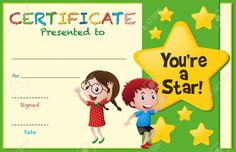 Certificate Template Kids Stars Illustration Stock Vector with regard to Free Kids Certificate Templates - Sample Business Template Free Printable Certificate Templates, Certificate Of Achievement Template, Certificate Design Template, Award Certificates, Kids Awards, Award Template, Star Illustration, Star Students, Star Awards