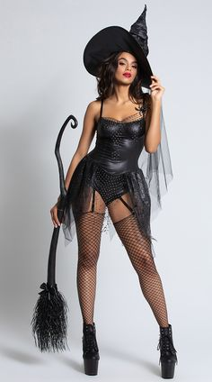 costume spider romper black witch spier sexy Black Spider Witch Costume Sexy Witch Romper Costume Sexy Romper Black Spier Witch CostumeYou can find Witch costumes and more on our website Wicked Witch Costume, Goth Halloween Costume, Costume Sexy, Corset Costumes, Black Costume, Queen Costume, Halloween Outfits, Halloween Ideas, Adult Halloween