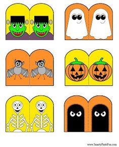 Printable Halloween Finger Puppets