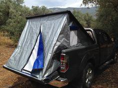 Nissan Navara D40 DIESEL 4X4 1,5 καμπινα '2008 - 12500.0 EUR - Car.gr Tailgate Tent, Truck Camping, Nissan Navara D40, Tarp Shelters, Bed Tent, Canal Boat, Diy Camper, Truck Bed, Toyota Tacoma