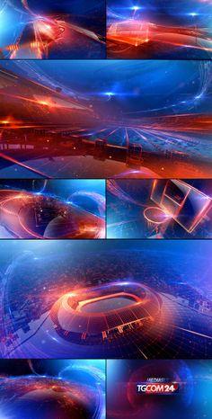 TgCom24 Channel Branding by Angelsign Studio , via Behance