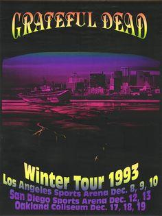 92cbb42743c 1993  Grateful Dead. Winter Tour. Poster art by Bill Dellick. Festival  Posters