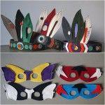 Máscaras de fieltro para completar disfraces caseros