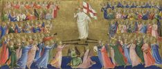 Christ Glorified in the Court of Heaven: Central Predella Panel