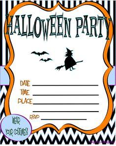 free printable halloween birthday invitations templates, party invitations