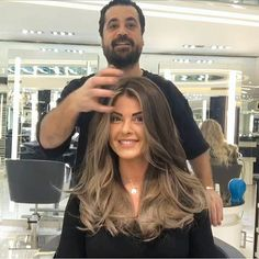 get my hair colored by Mounir