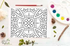 Friday Freebie Coloring Page - This fun free printable is sure to keep you busy activating your creative side and disengaging from technology!