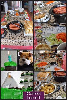 DIY Puppy Dog Party hot dog bar #CarmelLamolli
