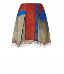 Union Jack Print Trail Skirt