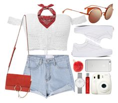 """Summer Girl"" by smartbuyglasses-uk ❤ liked on Polyvore featuring Yves Saint Laurent, Vans, Daniel Wellington, Fendi, Chloé, Native Union, Fuji, Hermès, Furla and white"