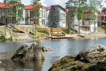 Row of houses in Saaristokaupunki. Native Place, Before I Die, Marimekko, The Row, Houses, Architecture, Places, Finland, Plant Bed