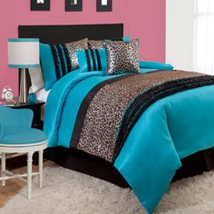 Kenya 5-Piece Blue Comforter Set