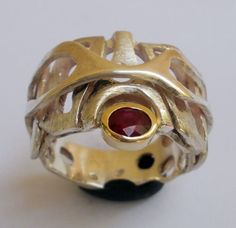Beautiful handmade ring. Labyrinth of love.