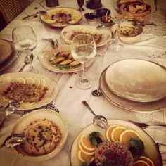 Cena en el restaurante del Riad