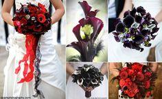 Ramos de novia para bodas en Halloween inspiradas en Tim Burton. Más detalles en el blog: http://losdetallesdetuboda.com/blog/bodas-en-halloween-inspiradas-en-tim-burton/
