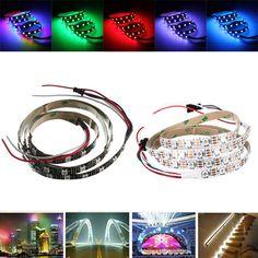 5M APS-002 not waterproof Bare board LED Lights Flexible Strip Lamp 24V Colorful