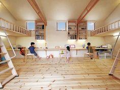 Japanese Home Decor, Japanese Interior, Japanese House, Dream Home Design, Home Interior Design, Interior And Exterior, House Design, Bedroom Loft, Kids Bedroom