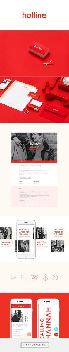 Hotline Match Making Service Branding by Communal Creative | Fivestar Branding Agency – Design and Branding Agency & Curated Inspiration Gallery #branding #brand #websitedesign #design #designinspiration
