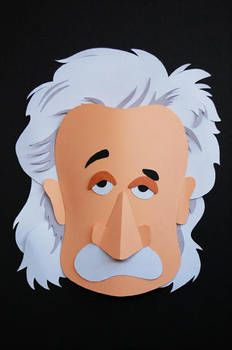 einstein paper sculpture by gctan Origami Paper Art, Paper Crafts, Paper Paper, Art And Illustration, Kirigami, Paper Artwork, Paper Design, Graphic, Paper Dolls