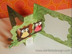 How to Make a Flip It Card - Owls