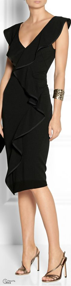 Donna Karan ● stretch-jersey dress #fashion & #style