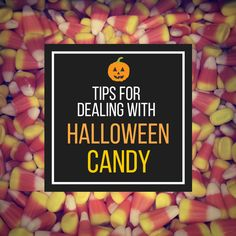 Tricks for dealing with Halloween treats and options on how to get rid of left over candy.