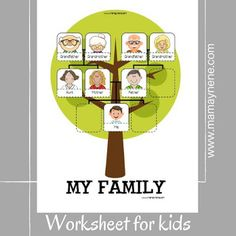 My family tree- cards and worksheet -mamaynene blog