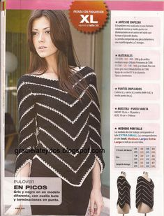 Nice crochet ripple top! The pattern is in Spanish but there are diagrams. I am not a Spanish speaker and I got most of it!