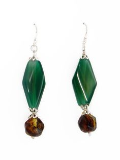 Mexican Amber & Jade Earrings   Artisan Made   Chiapas Bazaar   Handmade Mexican Blouses, Accessories & Home Decor from Rural Artisans