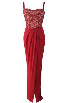 Prix: €18.83 Robes de Soiree Maxi Haut Bustier Dentelle Rouge A Bretelles Fendu Modebuy.com @Modebuy #Modebuy #robes #Grande #sexy #Rouge #gros #style #me #vêtements #followme #c4c #likealways #f4f #commentall #france