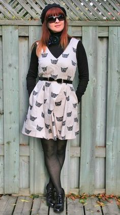 cat dress Over 40 fashion for the stylish woman.