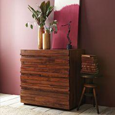 Stria 3-Drawer Dresser - Honey | west elm