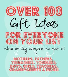 Over 100 Gift Ideas for EVERYONE on you List! I always want to give great gifts but can never think of anything! Diy Gifts For Christmas, Christmas And New Year, All Things Christmas, Holiday Crafts, Holiday Fun, Christmas Holidays, Christmas Ideas, Creative Gifts, Cool Gifts