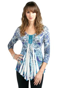 Sequin Sublimation Top Tees & Knit Tops Cato Fashions