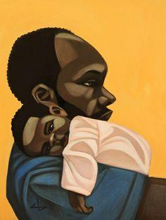"""""""Bonded"""" Art Print by Cbabi Bayoc.  #365DaysWithDad  #FathersDay"""