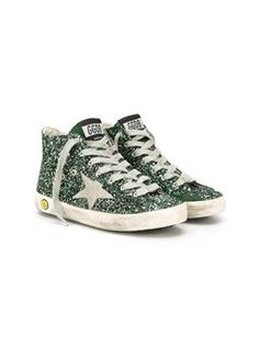 'Francy Maxi' glitter hi-top sneakers