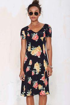 After Party Vintage Satiya Floral Dress - Nasty Gal