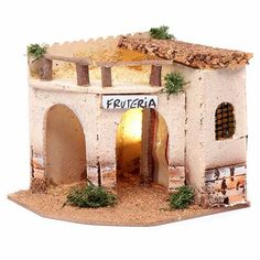 Belem, Reggio Emilia, Doll Furniture, Small Towns, Diorama, Paper Flowers, Nativity, Gazebo, Arch