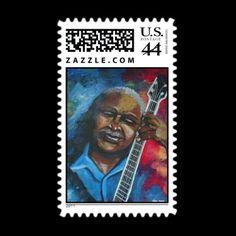 blues guitar postage